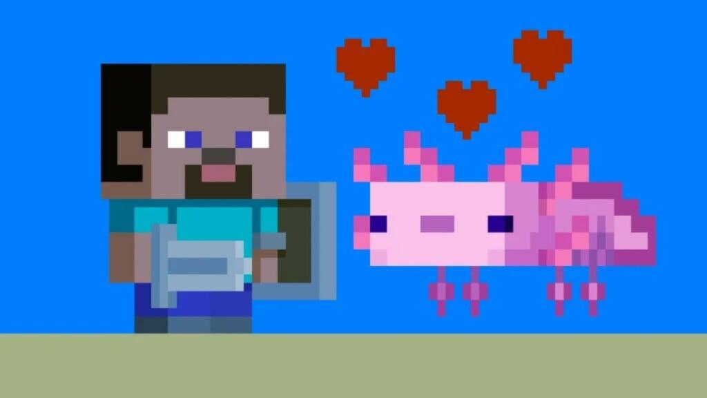 rarest Axolotl in Minecraft