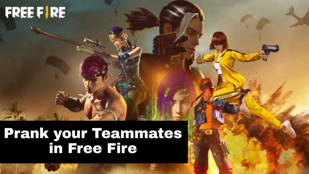 top 3 ways to prank your teammates in free fire