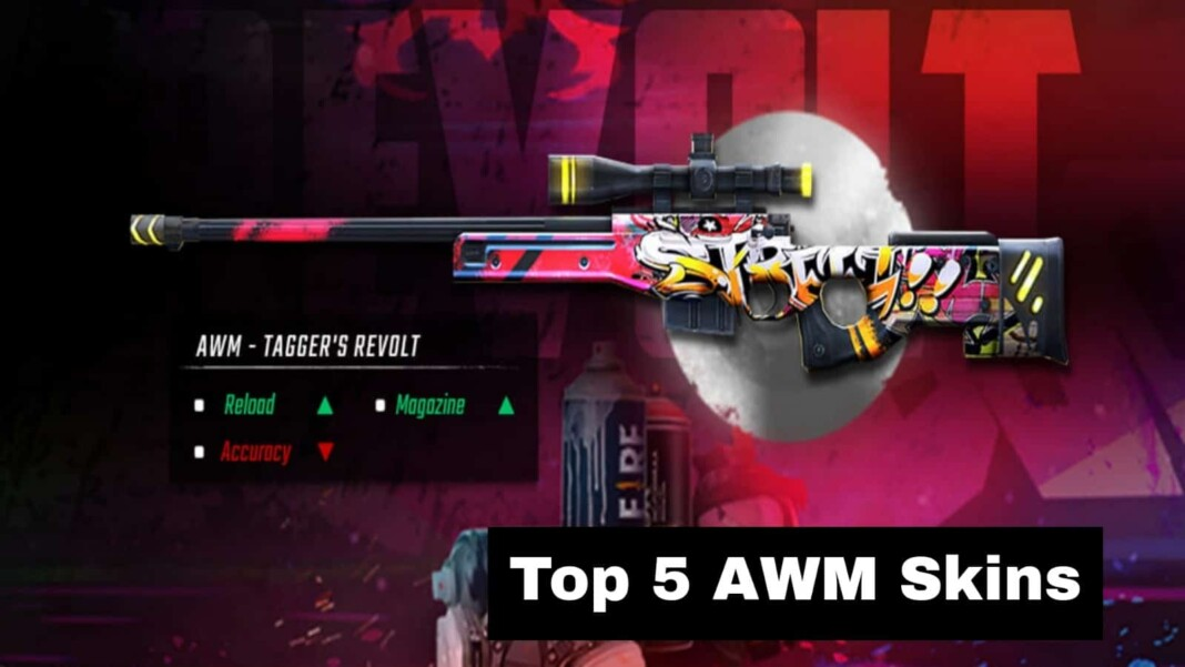 Top 5 AWM Skins In Free Fire