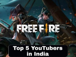 top 5 free fire youtubers in India