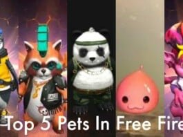 top 5 pets in free fire