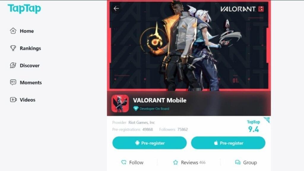 Valorant Mobile Pre-Registration