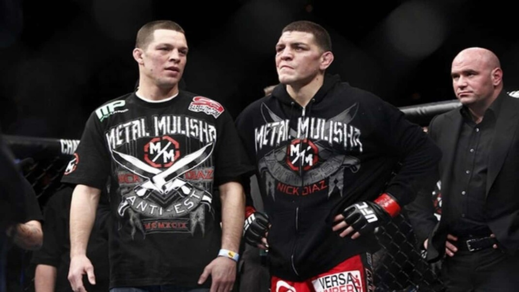 why did Nate Diaz start fighting