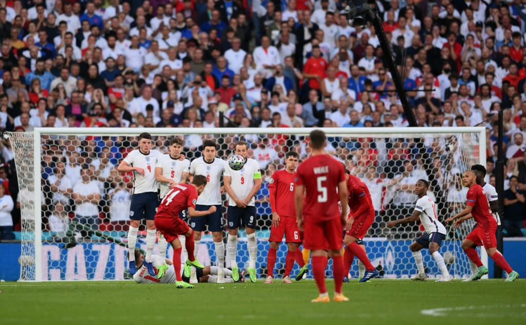 Euro 2020 Watch England Vs Denmark: An own goal from Simone Kjaer puts England level after Mikkel Damsgaard gave Denmark the lead with a stunning free kick