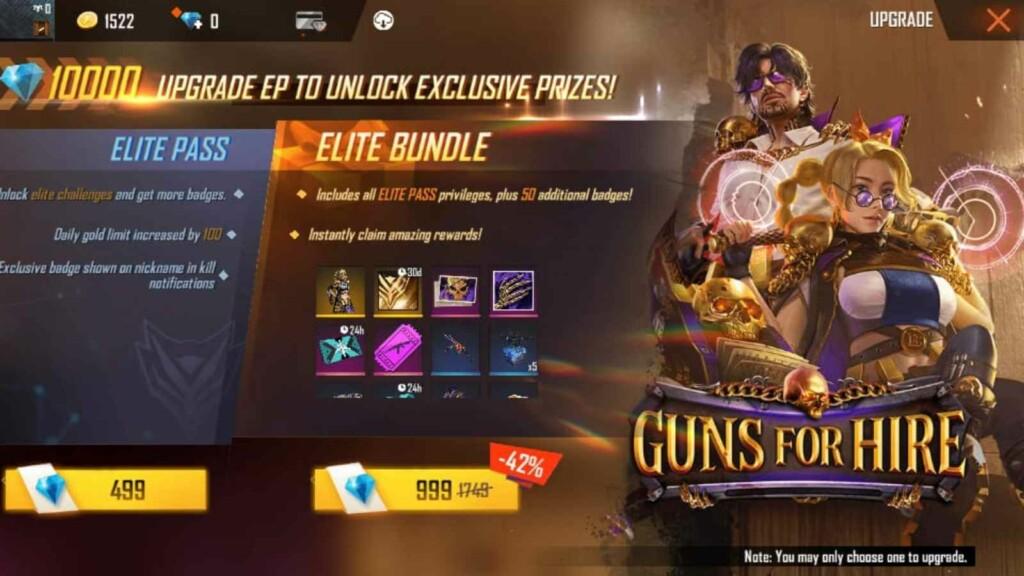 Free fire Season 38 Elite pass