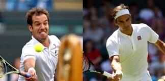 Richard Gasquet and Roger Federer