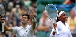 Novak Djokovic and Coco Gauff