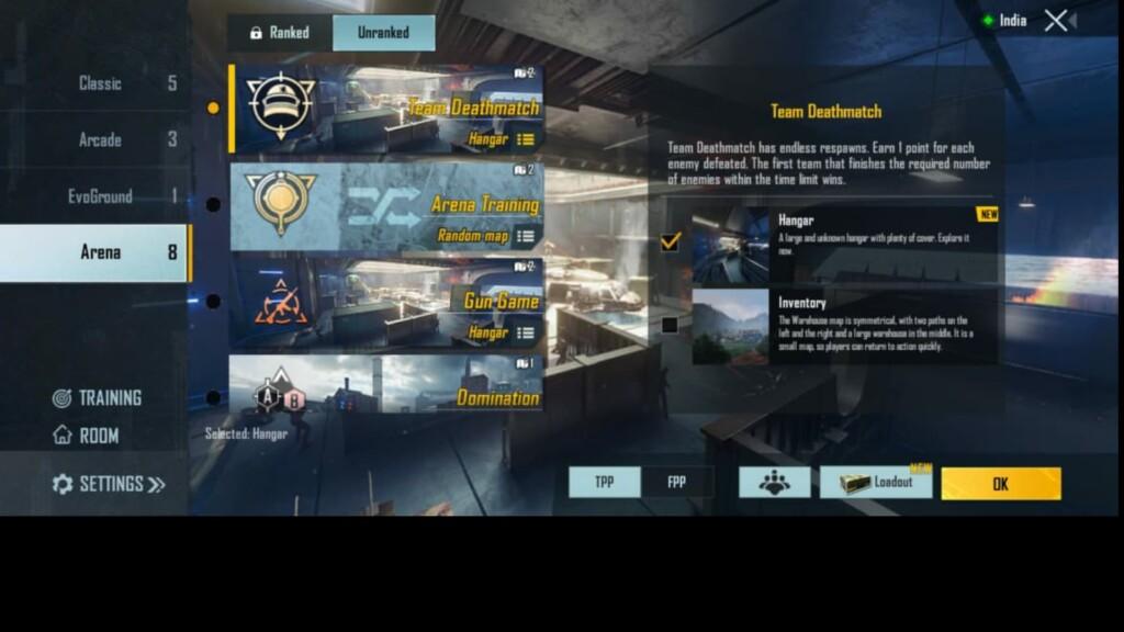New Hangar Arena map in BGMI