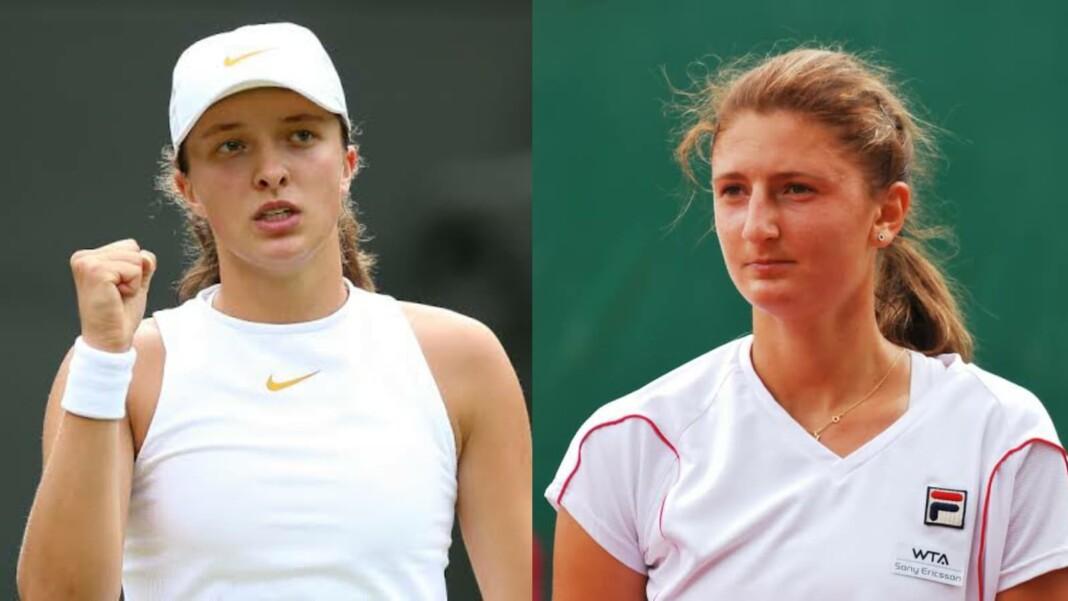 Iga Swiatek and Irina-Camelia Begu