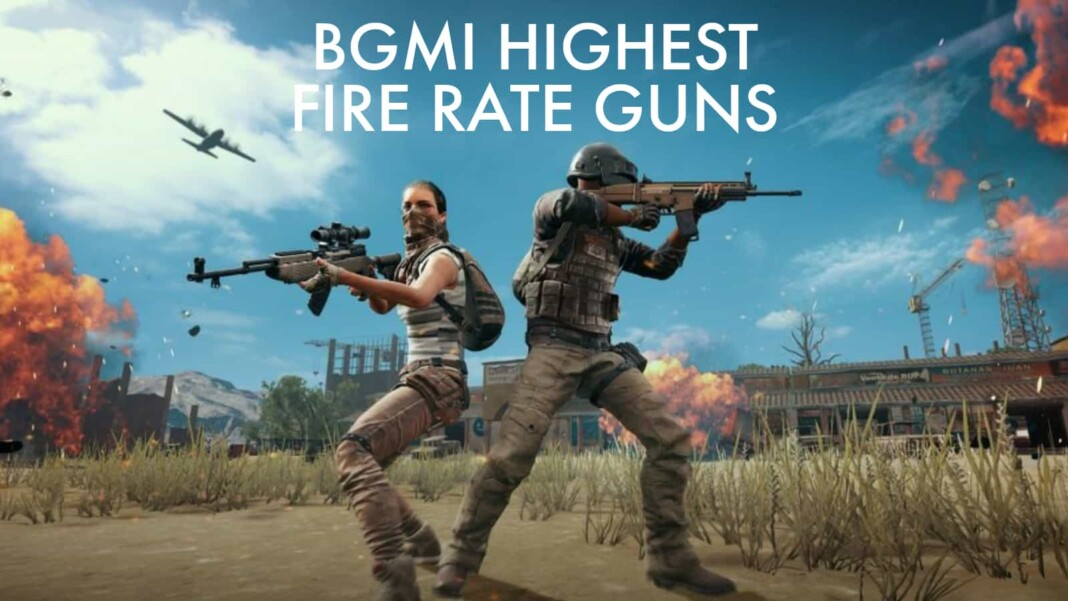 Top 5 best guns with highest fire rate in BGMI