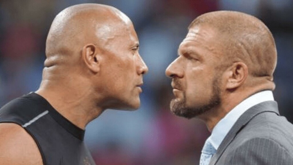 The Rock vs Triple H