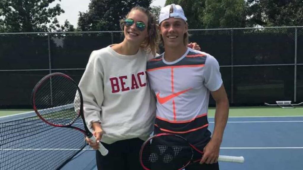 Denis Shapovalov and his girlfriend