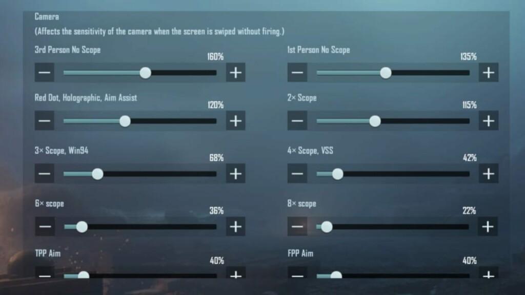 Best sensitivity settings in BGMI