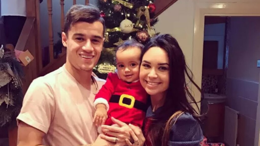 Coutinho with his family