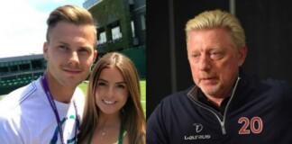 Mrton Fucsovics with his girlfriend and Boris Becker