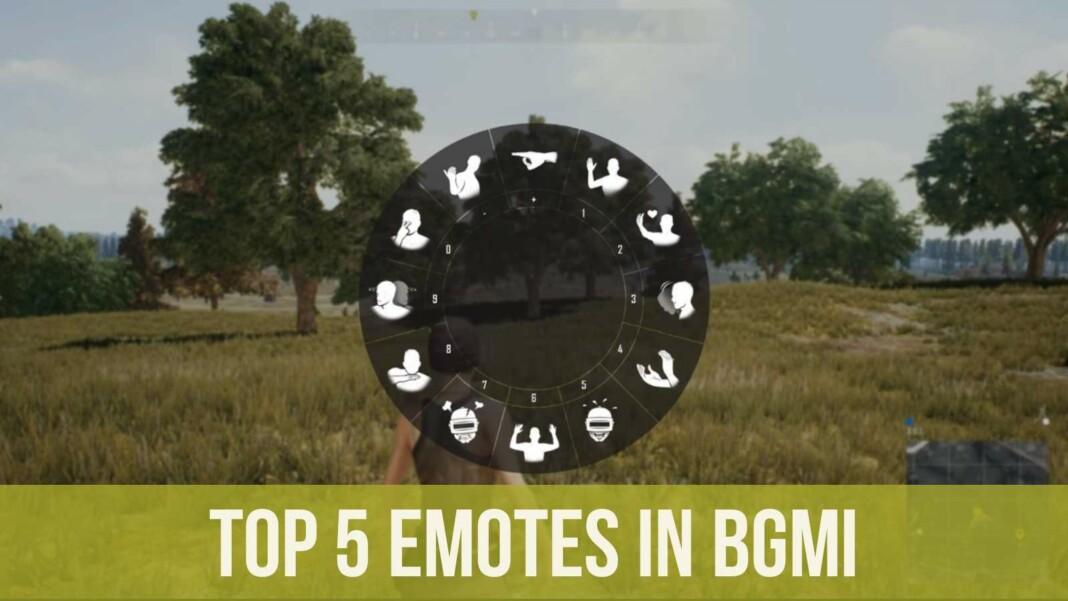 Top 5 emotes in BGMI