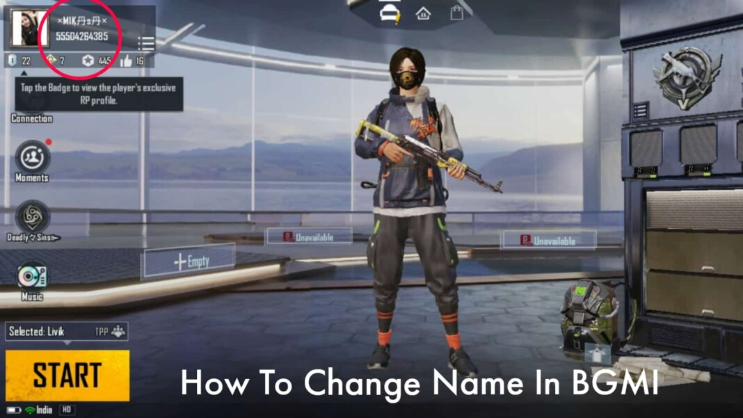 How to change name in BGMI?