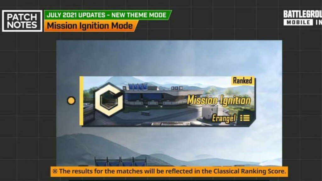 BGMI 1.5.0 update Patch Notes, New Mission Ignition Mode and more