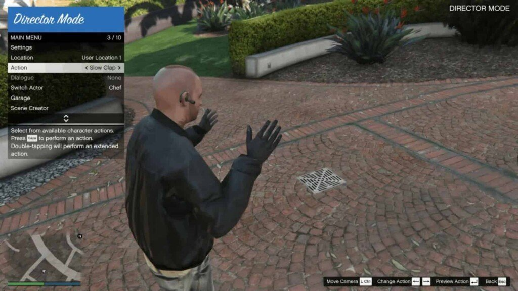 How to change player actions in GTA 5