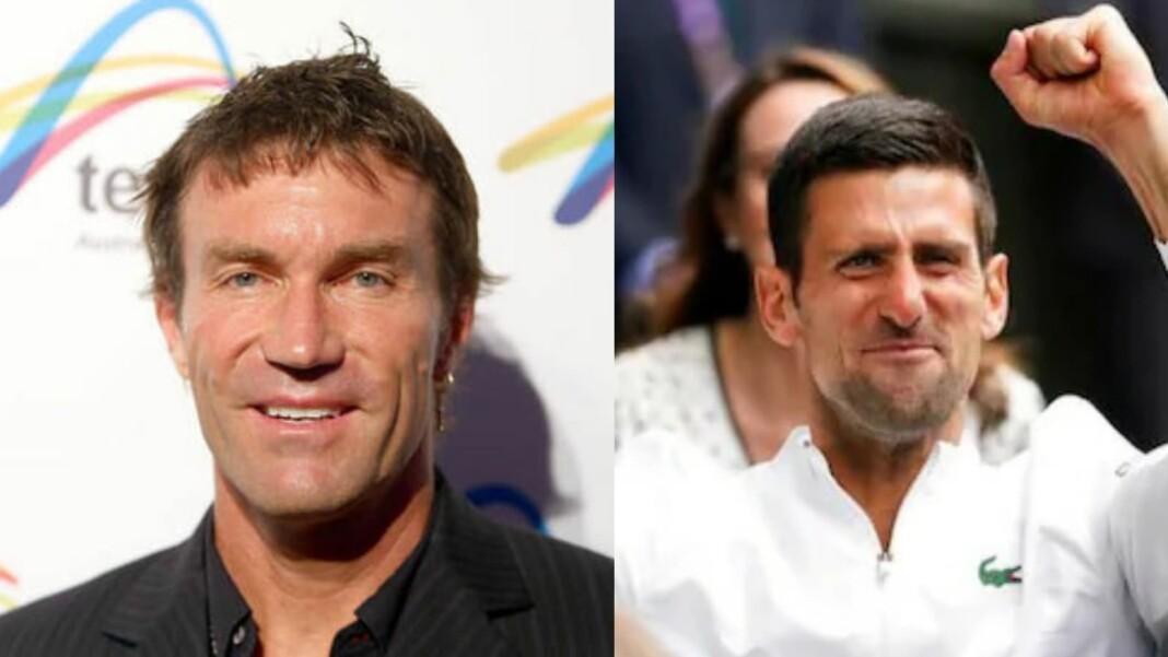 Pat Cash and Novak Djokovic