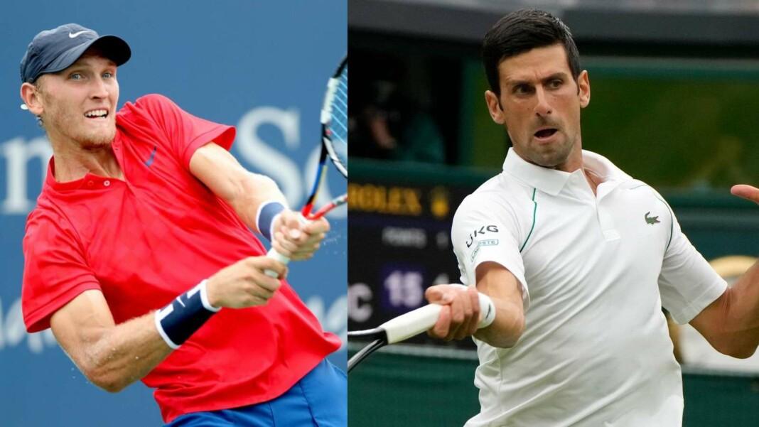 Mitchell Krueger and Novak Djokovic