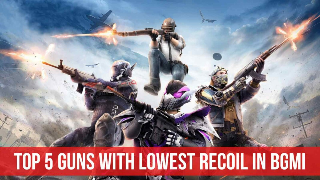 Top 5 guns with lowest recoil in BGMI