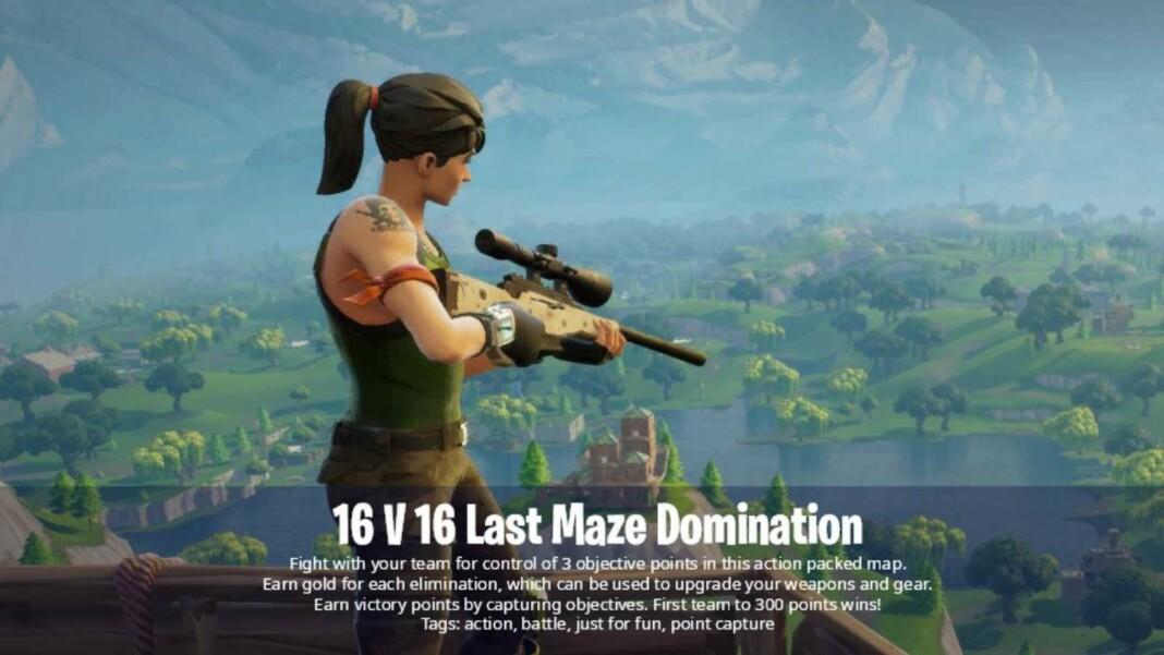 Fortnite 16v16 Last Maze