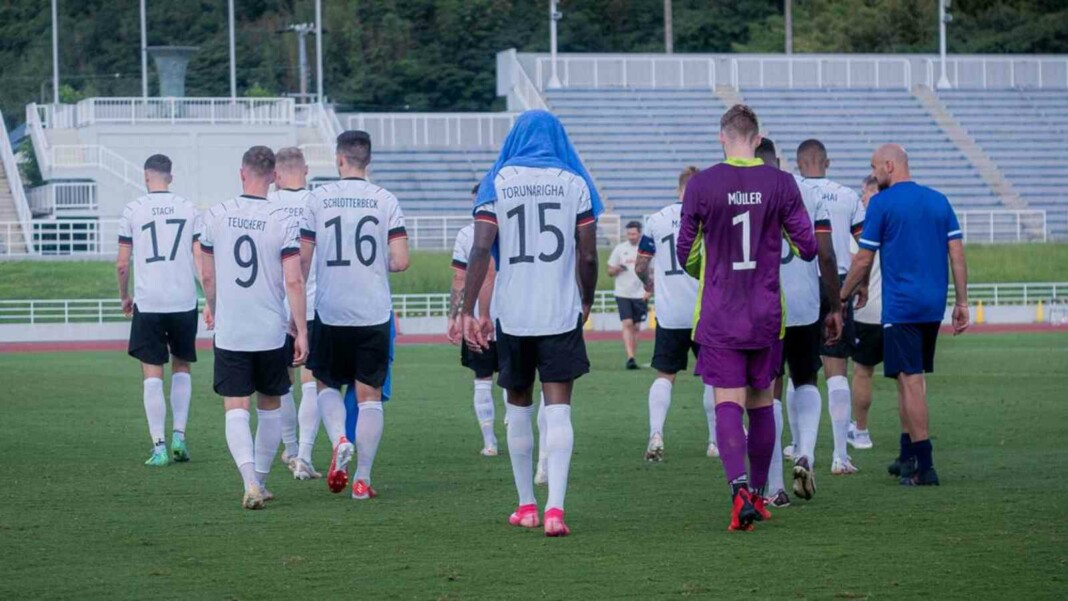 Germany Olympic football team walk off the pitch after alleged racist abuse towards Jordan Torunarigha