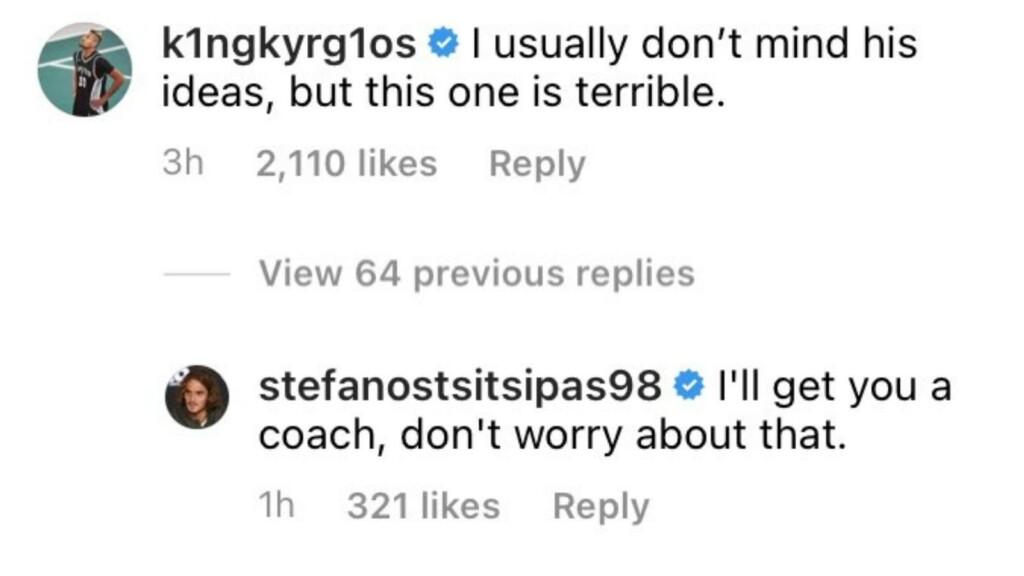 Nick Kyrgios and Stefanos Tsitsipas