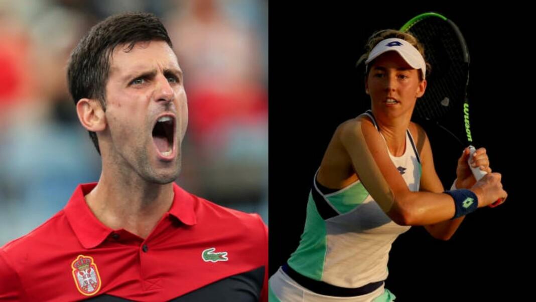 Novak Djokovic and Nina Stojanovic