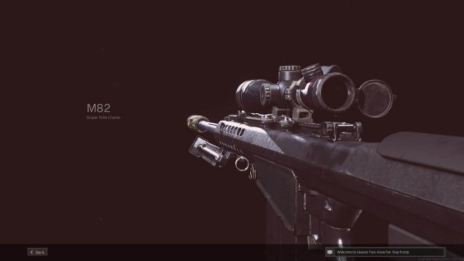 The Best M82 Warzone Loadout in Season 4