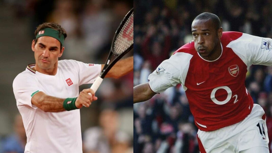 Roger Federer and Thierry Henry