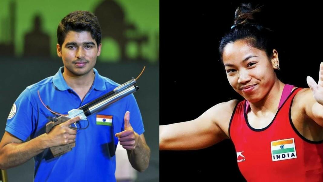 Saurabh Chaudhary and Mirabai Chanu