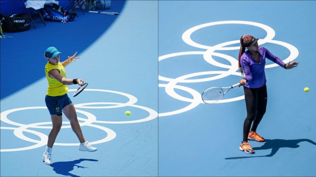 Ash Barty and Naomi Osaka