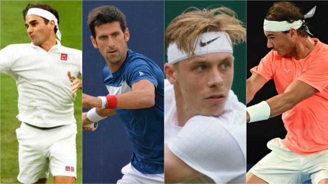Roger Federer, Novak Djokovic, Denis Shapovalov, Rafael Nadal