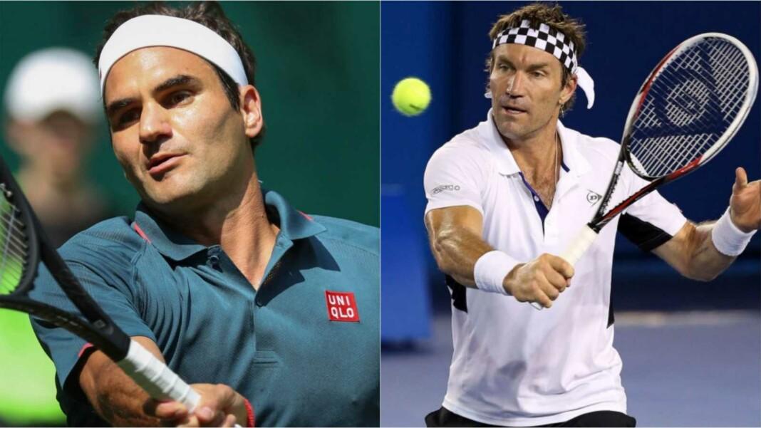 Roger Federer and Pat Cash