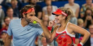 Roger Federer and Belinda Bencic