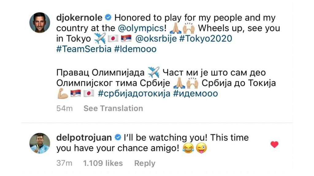 Djokovic and Del Potro