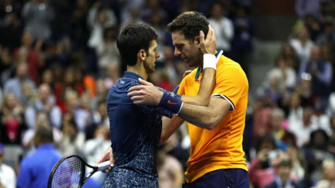 Juan Martin Del Potro and Novak Djokovic