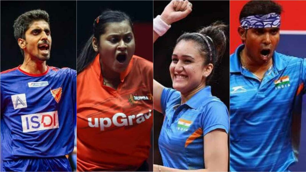 Indian table tennis contingent at the Tokyo Olympics