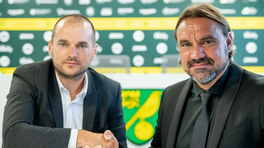 Norwich City head coach Daniel Farke signs a four year contract extension with club