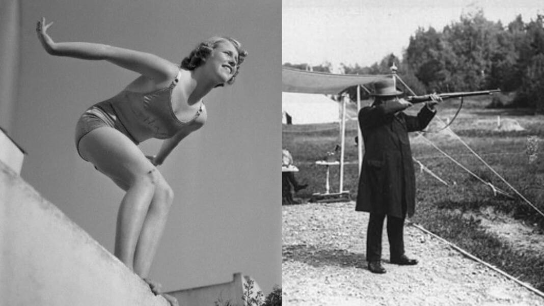 Marjorie Gestring and Oscar Swahn