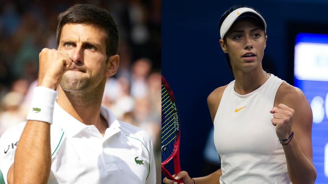 Novak Djokovic and Olga Danilovic