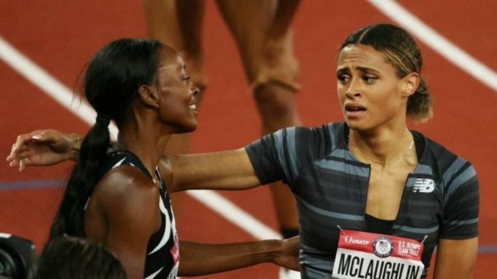 Dalilah Muhammad and Sydney McLaughlin