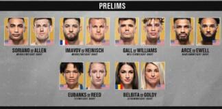 UFC Vegas 32 Prelims
