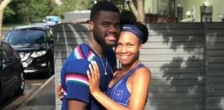 Francis Tiafoe and his girlfriend
