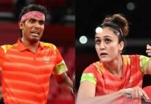 Sharath Kamal and Manika Batra