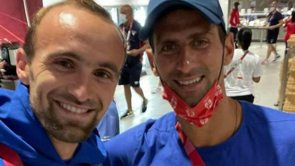 Amel Tuka and Novak Djokovic