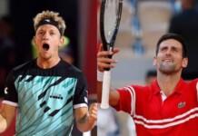 Alejandro Davidovich Fokina and Novak Djokovic