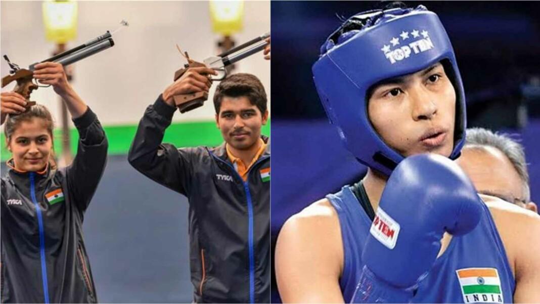 Indian shooters Manu Bhaker, Saurabh Chaudhary and Lovlina Borgohain